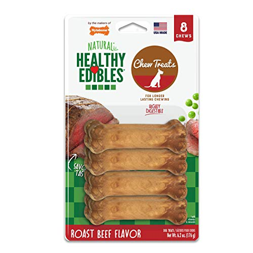 Nylabone Healthy Edibles Roast Beef Flavored Dog Treats All Natural...