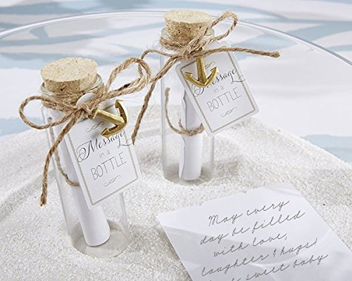 Message in a Bottle Glass Favor Bottle (Set of 12) by Kateaspen