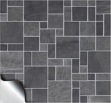 24 Dark Grey Printed In 2d Kitchen Bathroom Tile Stickers For 6 Inches 15cm Square Tiles Tp 31 Directly From Tile Style Decals No