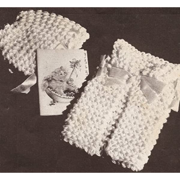 This is a pattern and//or instructions to make the item only. Vintage Knitting PATTERN to make Dish Face Cloth Baby Washcloth.NOT a finished item