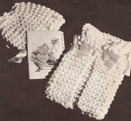 Amazon Vintage Knitting Pattern To Make Dish Face Cloth Baby