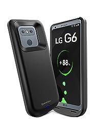 ANSEN   Funda para batería LG (incluye cargador inalámbrico delgado, batería recargable, puerto USB C y TPU suave, protección completa), color negro