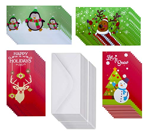 Holders with Envelopes/Christmas Money Card Holder for Xmas Checks,Gift Cards or Cash (Glitter/Hot Stamps) (Designs 2, 38 Count) ()