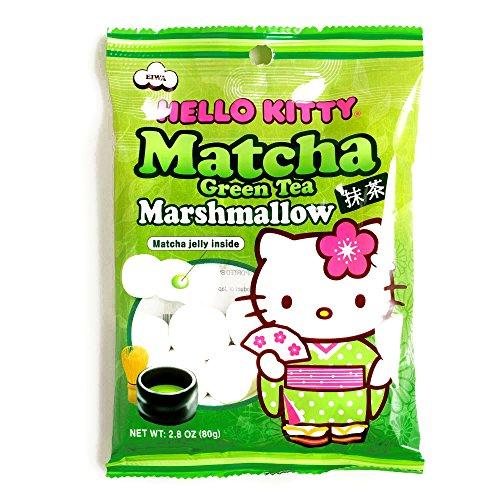Hello Kitty Matcha Marshmallows 2.8 oz each (2 Items Per Order) (Hello Kitty Chocolates)