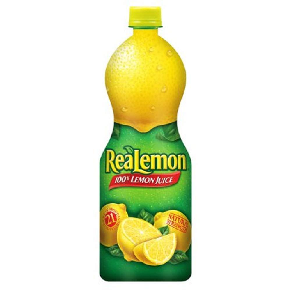 ReaLemon 100% Lemon Juice, 32 Fl Oz, 1 Count (12 Pack)