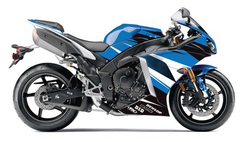 (Factory Effex 15-15222-B EV-R Series OEM Blue Color Complete Street Bike Graphic Kit for Yamaha YZF-R1)