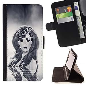 - Sci Fi Robot Woman - - Prima caja de la PU billetera de cuero con ranuras para tarjetas, efectivo desmontable correa para l Funny HouseFOR Apple Iphone 6