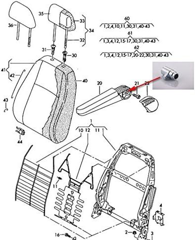 Reparaci/ón de apoyabrazos Pieza Lado Derecho para VW Transporter T5