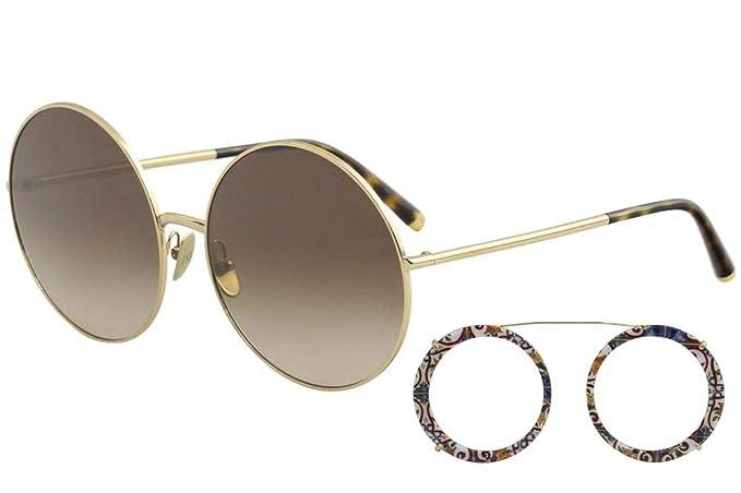 Dolce & Gabbana 0DG2198 Gafas de sol, Gold/Havana Print ...
