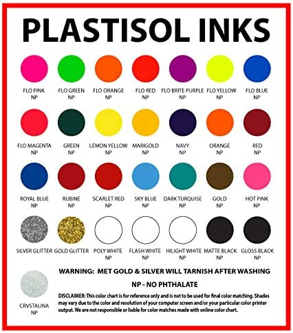 All Sizes Non Phthalate Formula Gallon Ecotex HOT Pink Plastisol Ink for Screen Printing