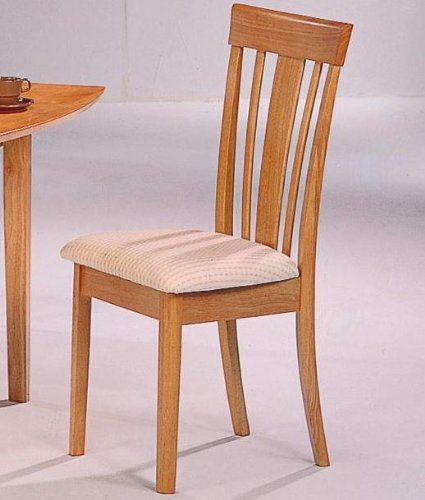 Coaster Chair With Fabric Seat, Maple, Set Of 2