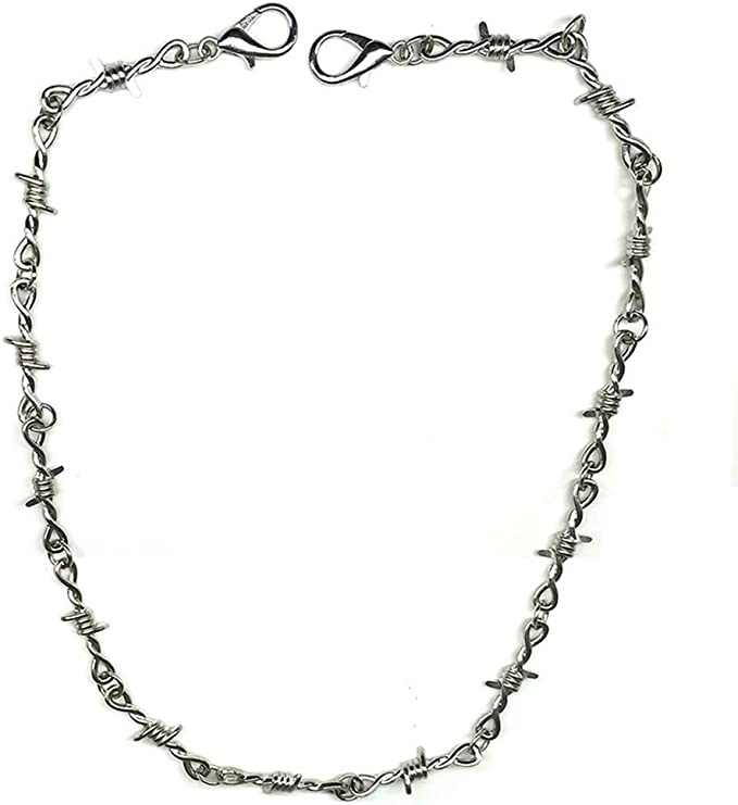 Double Thick Silver Cable Link Chain Maille Mail Necklace Medieval Goth Punk Rock Rave Scene Hip Hop Rap Rapper Modern Urban Warfare Man Men