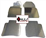Rallymats 03-08 Infiniti G35 Diamond Plate Aluminum Metal Floor Mats 2PC Set