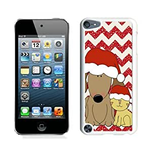 Personalization Christmas Dog and Cat White iPod Touch 5 Case 1
