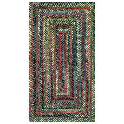Concentric Rectangle Green Rug - High Rock Multi Rug Rug Size: Concentric Runner 2' x 8'