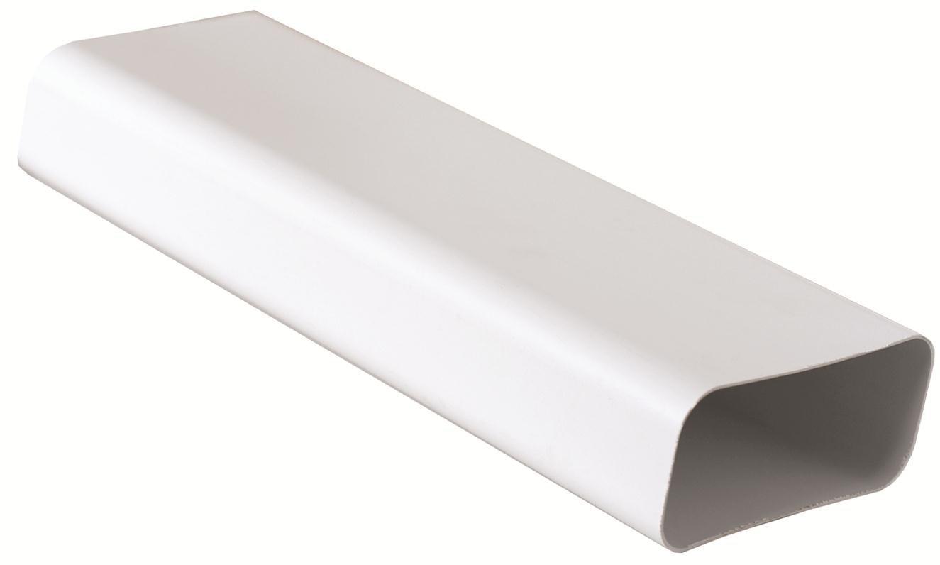 Tubo 150x70 mm lunghezza 1, 5 ml per Aerazione Canalizzata Cappa Cucina in Pvc Colore Bianco. Edilplast