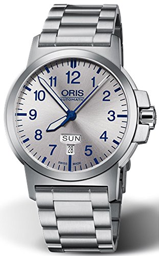 Oris BC3 Advanced Day Date Mens Stainless Steel Automatic Watch - 42mm Analog Silver Face Luxury Automatic Swiss Watch For Men 01 735 7641 4161-07 8 22 03