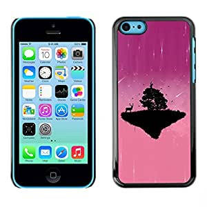 PC/Aluminum Funda Carcasa protectora para Apple Iphone 5C Pink Cute Planet / JUSTGO PHONE PROTECTOR