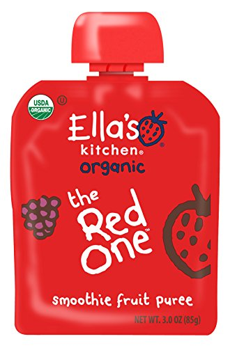 (Ella's Kitchen 6+ Months Organic Smoothie Fruits, The Red One, 3 oz. (Pack of 6))