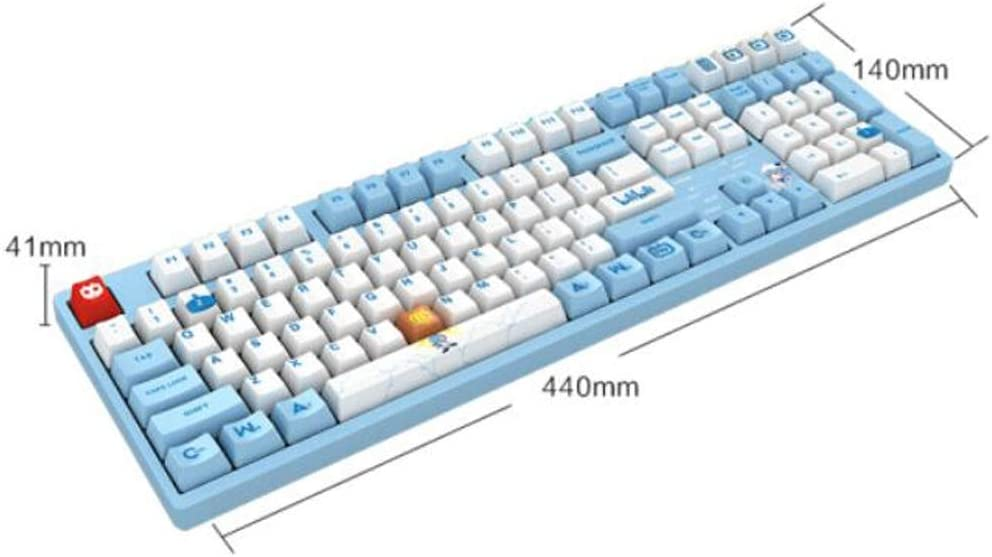 Gaming 108 Keys Gaming Keyboard High-end Texture. Gaoxingbianlidian Mechanical Keyboard Color : Blue Blue Powder Shaft Wired Keyboard