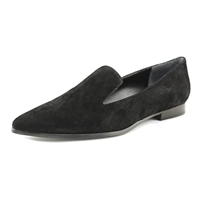 GUESS Womens Loriana Suede Pointed Toe Loafers Black Size 8.0