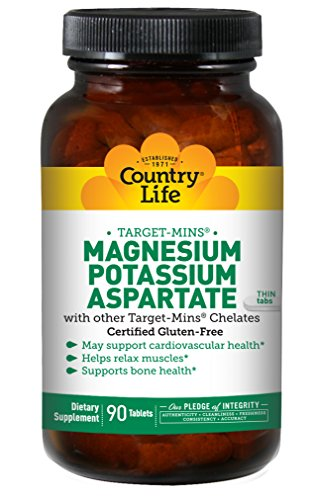 Country Life Target Mins - Magnesium Potassium Aspartate, for Cardiovascular Health - 90 (Magnesium Complex 90 Tablets)
