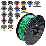 TIANSE Green PLA 3D Printer Filament 1.75mm 1KG Spool Filament for 3D Printing, Dimensional Accuracy +/- 0.03 mm