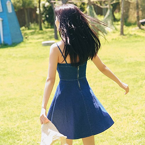 Jupe M la et Blue MiGMV Petit Deep la 2018 est est Habille est Seul Taille Jean Haute Taille en la wCaC4Bqp