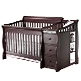 4 in 1 Crib and Changer Sorelle Princeton 4-in-1 Convertible Crib & Changer - Espresso