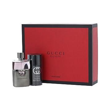 8704d657a Gucci Guilty pour Homme Gift Set: Eau de Toilette 50ml + Deodorant Stick  75ml: Amazon.co.uk: Beauty