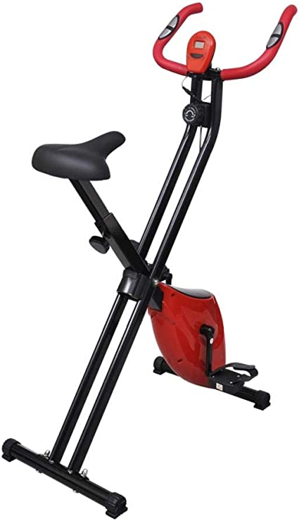 Festnight Bicicleta Estática Plegable con 8 Niveles de Resistencia ...