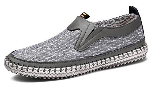 MOHEM Männer Poseidon Slip-On Loafers Wasser Schuhe Casual Wanderschuhe 3177-2grau