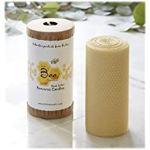 "6"" Hand-Rolled Beeswax Pillar Candle - Little Bee of Connecticut, Martha Stewart American Made Maker"