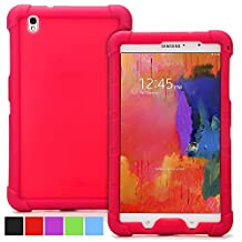 Poetic Samsung Galaxy Tab Pro 8.4 Case [TURTLE SKIN Series] - Rugged Silicone Case for Samsung Galaxy Tab Pro 8.4 (SM-T320 / SM-T325) Red (3-Year Manufacturer Warranty from Poetic)