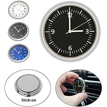 KINBEAR Car Dashboard Trim Clock Interior Accessories High Accuracy Quartz Luminous Dial with Vent Clip fit for Mercedes Benz