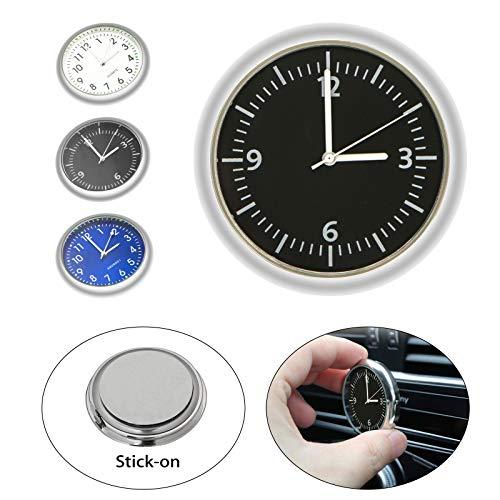 EEEKit Car Clock, Luminous Quartz Analog Watch Universal Pocket Mini Stick-On Clock for Car Boat Bike Home