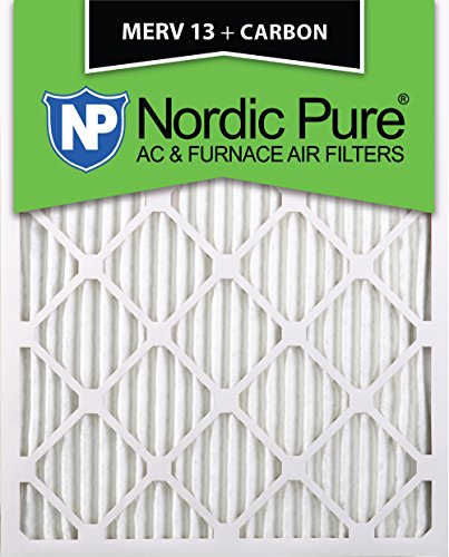 Nordic Pure 15x20x1M13+C-6 MERV 13 Plus Carbon AC Furnace Air Filters, Qty-6