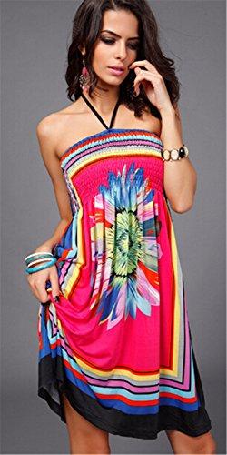 Qiyun 3008S0609 - Vestido para mujer Rosa
