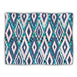 Kess InHouse Nika Martinez 'Tribal Ikat' Blue Pattern Dog Blanket, 40 by 30-Inch