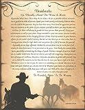 Western Cowboy DESIDERATA Poster Print Poem 8.5x11