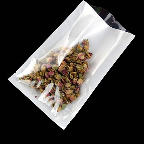 Tea Bag Wrappers - 300 Pcs Clear Front Flat Food Safe Favor Bag Mini Sampling Wrappers with Tear Notches Heat Sealable Smell Proof Pouches Vacuum Sealer Bulk Food Storage Candy Tea Nut Plastic Poly Pack 2.36x3.54 inch