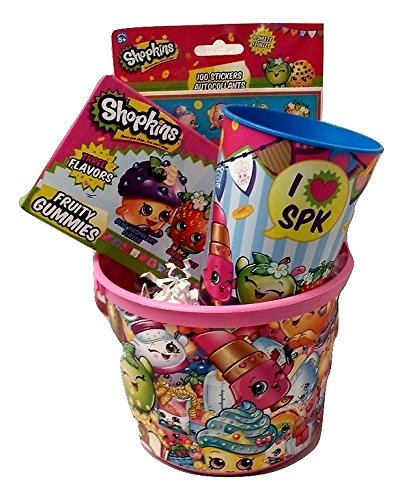 [Shopkins Birthday Gift Basket Bundle Mega Season 5 Game Cards Surprise Toy Figure Food Fair Mystery Surprise Easter Favor Container Snow Crush Lolli Pokins Cup] (Iron Man Halloween Costume Homemade)