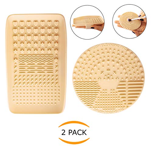 - Nanshy Silicone Makeup Brush Cleaner Pad & Makeup Brush Cleaning Palette Glove, Set of 2 Tools for Quick Clean or Deep Cleansing