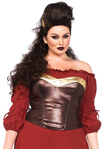 Leg Avenue Women's Plus-Size Armor Bustier Costume Accessory,