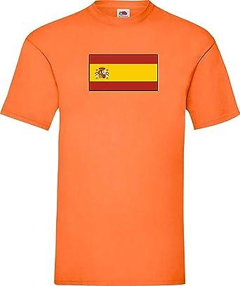 Shirtinstyle Uni Camiseta España Spain Camiseta de País con el Nombre Deseado y Número - Naranja, M: Amazon.es: Ropa y accesorios