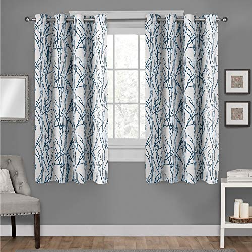 Exclusive Home Branches Linen Blend Grommet Top Curtain Pane