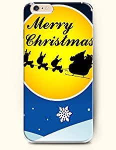 OOFIT New Apple iPhone 6 ( 4.7 Inches) Hard Case Cover - Merry Christmas - Santa Claus Riding a Sleigh