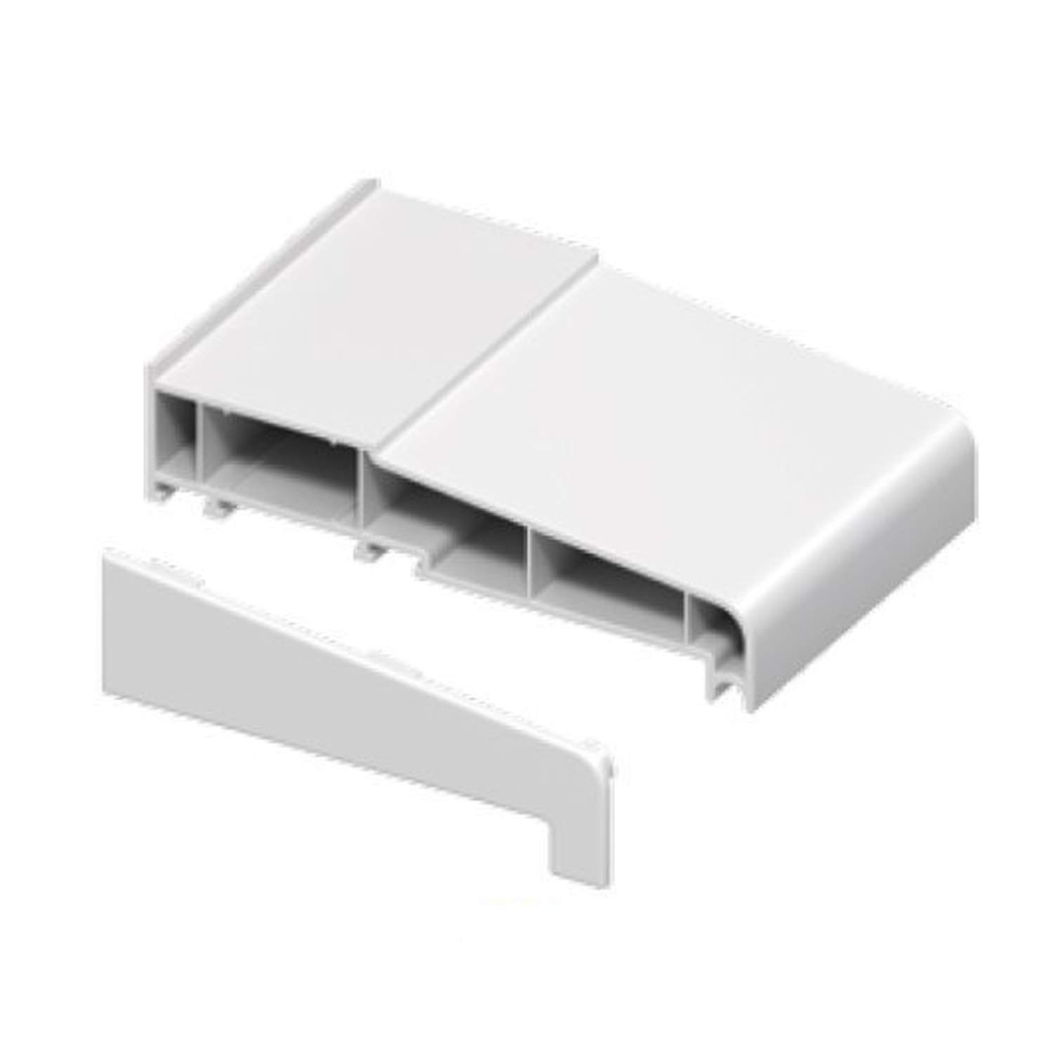 1 x Pair of White 150mm Window Cill End Caps - Suitable for many manufacturers uPVC window cills Eurocell