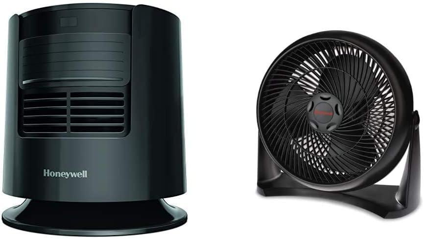 Honeywell Dreamweaver Sleep Fan, Black & HT-908 TurboForce Room Air Circulator Fan, Medium, Black