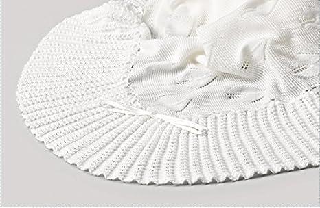 Toquilla bebe - Color blanco 100% acrílico dralon: Amazon.es: Bebé